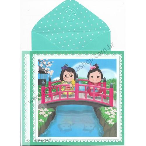 Ano 2017 Ma Tuzi Conjunto de Papel de Carta Coleção Hana Yuki 08
