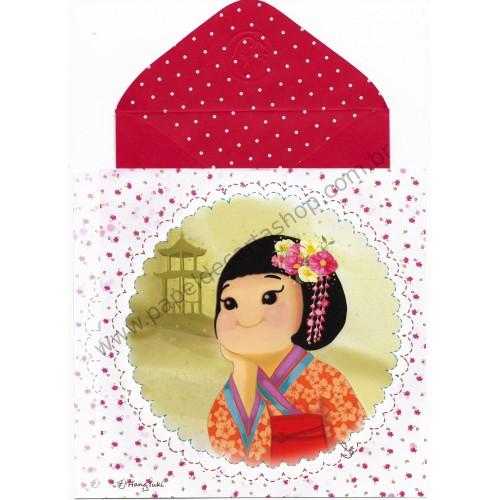 Ano 2017 Ma Tuzi Conjunto de Papel de Carta Coleção Hana Yuki 12