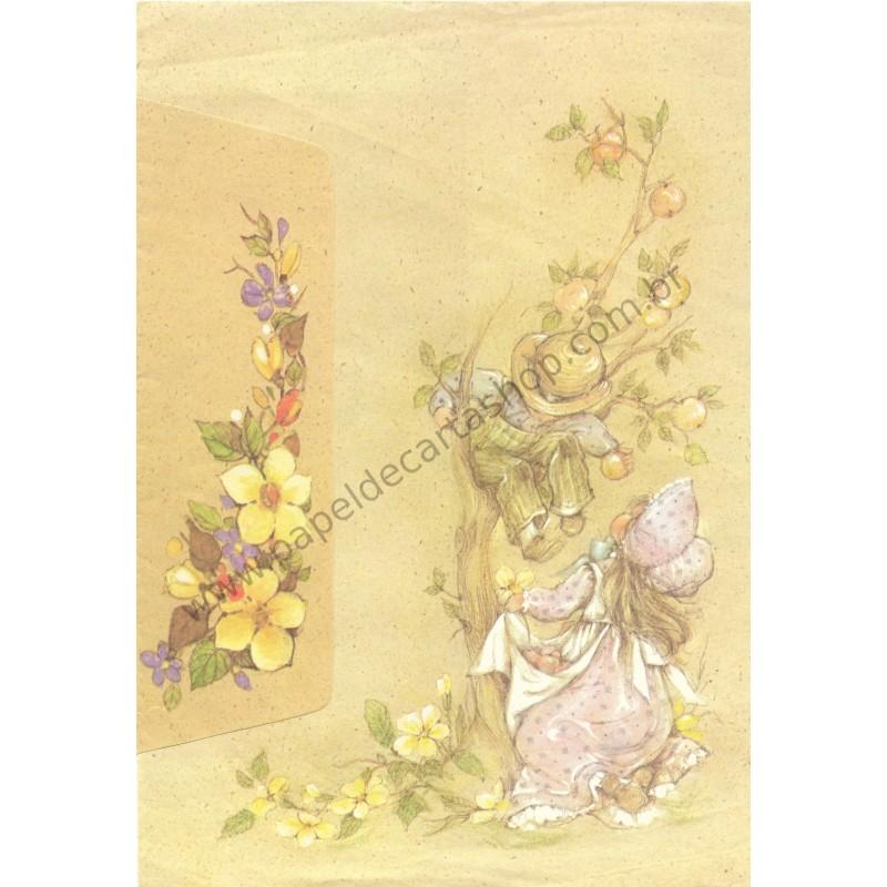 Conjunto de Papel de Carta Antigo Romeu & Julieta 07
