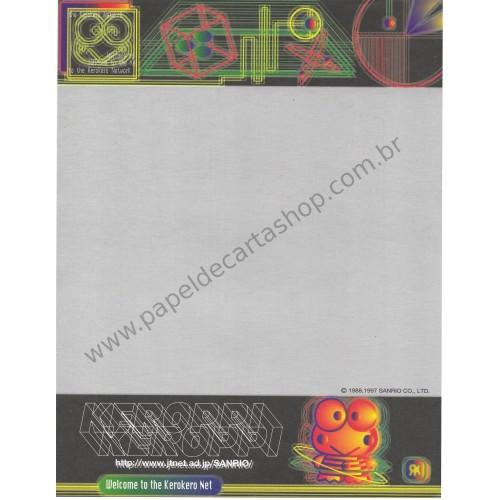 Ano 1997. Papel de Carta AVULSO A4 Keroppi Net Vintage Sanrio
