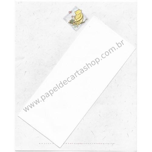 Conjunto de Papel de Carta Vintage Disney POOH A4 CBR