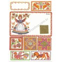 Postalette Antigo Importado Red Stamp - Current