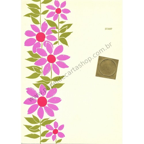 Postalete Antigo Importado Beautiful Flower - Current