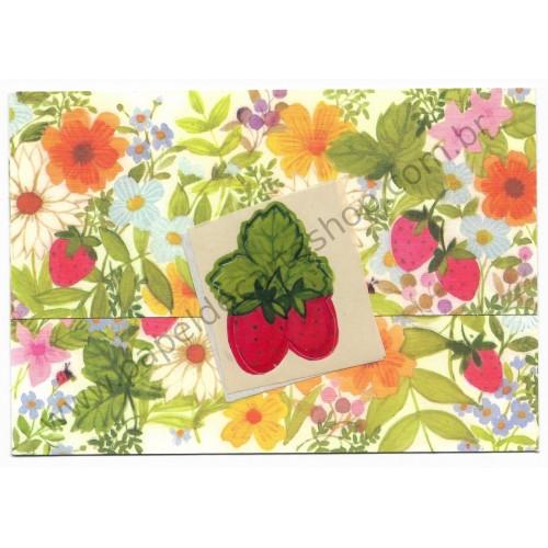Postalete Antigo Importado Flores & Frutas - Hallmark