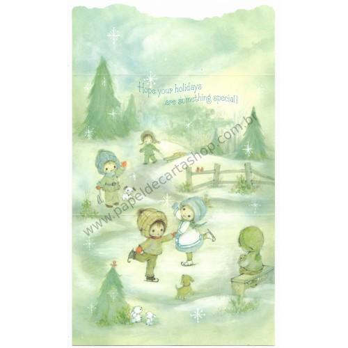 Postalete Antigo Importado Christmas Greeting - Hallmark