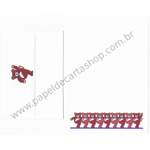 Conjunto de Papel de Carta Antigo Importado Bears - Current