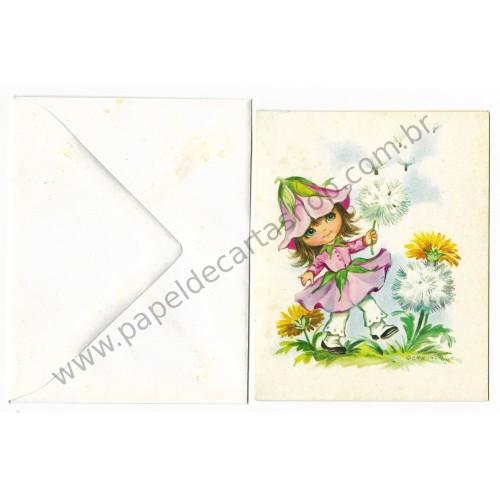 Ano 1976. Kit 3 Notecards Antigos Importados Bonnie Blossom