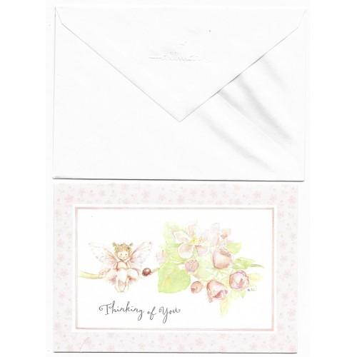 Notecard Cartão Antigo Importado Fairy CRS - Hallmark
