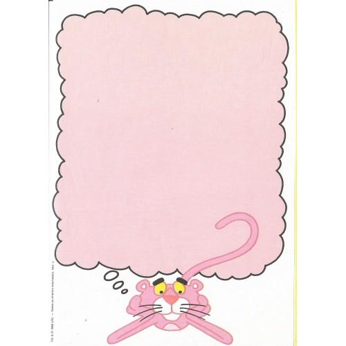 Ano 1986. Papel de Carta Antigo Pantera Cor-de-Rosa PRW3