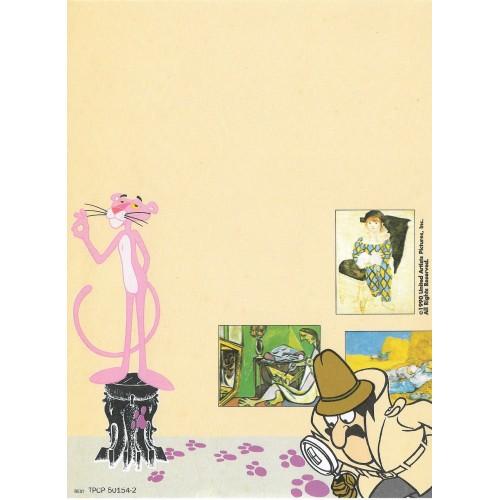 Ano 1990. Papel de Carta Antigo Pink Panther - CAM