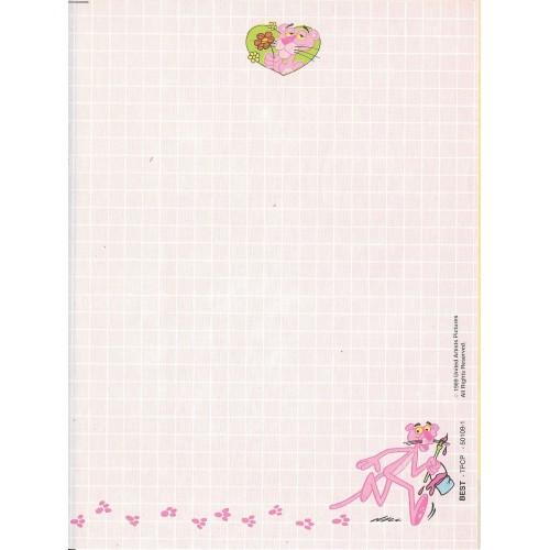 Ano 1989. Papel de Carta Antigo Pink Panther - CRS