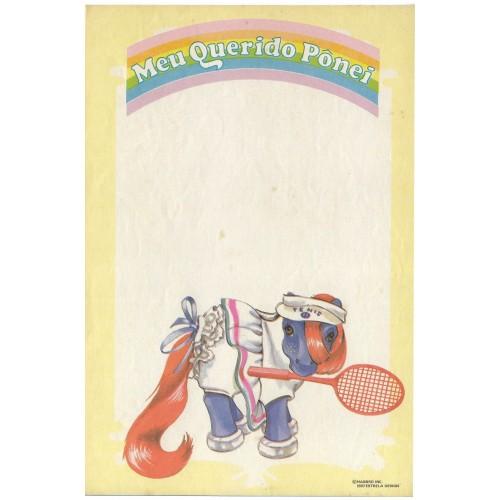 Ano 1987. Papel de Carta Antigo Meu Querido Pônei CAM1