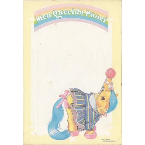 Ano 1987. Papel de Carta Antigo Meu Querido Pônei CAM2