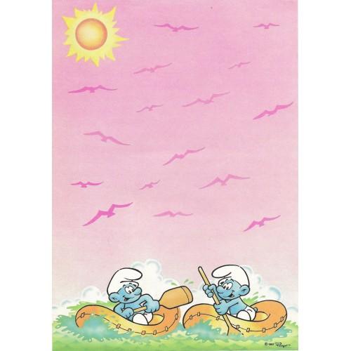Ano 1987. Papel de Carta Avulso Antigo Os Smurfs Peyo CRS