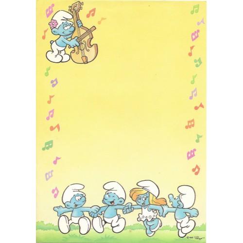 Ano 1987. Papel de Carta Avulso Antigo Os Smurfs Peyo CAM