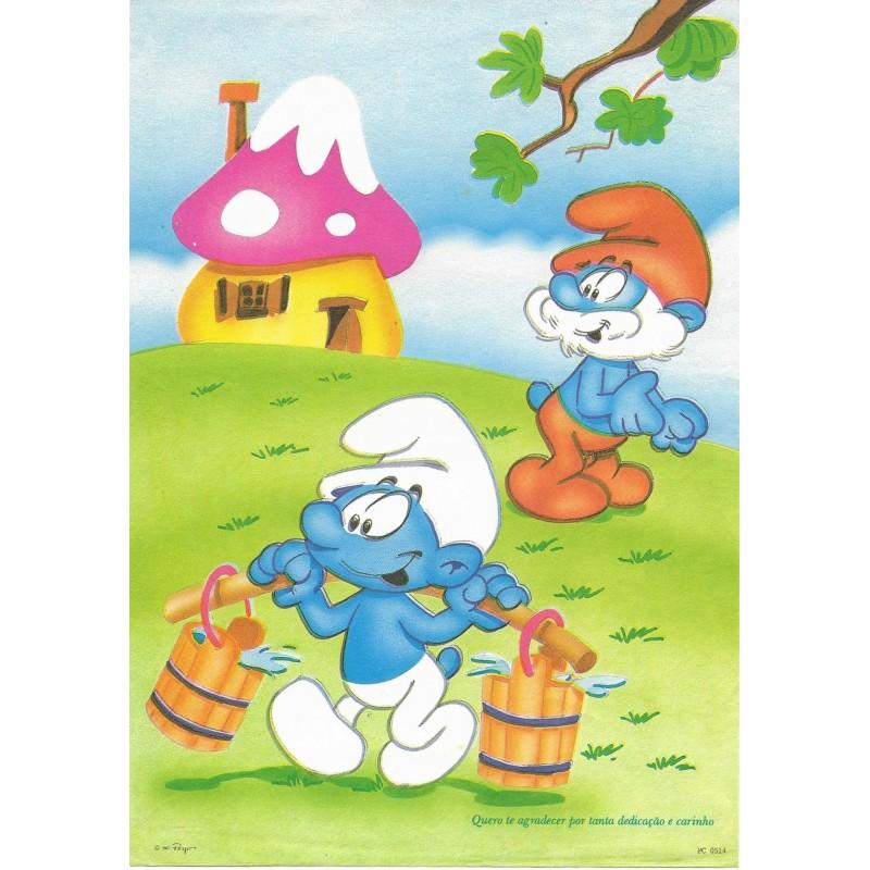 Papel de Carta ANTIGO PC 0514 Os Smurfs