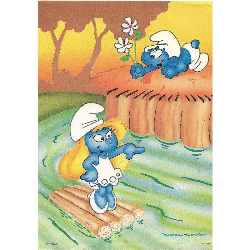 Papel de Carta ANTIGO PC 0515 Os Smurfs