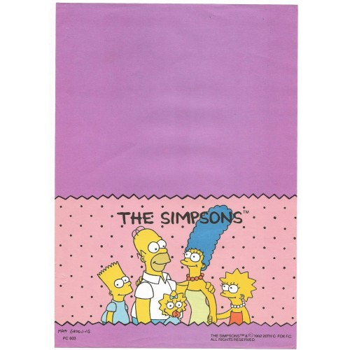 Papel de Carta ANTIGO PC 0603 Os Simpsons
