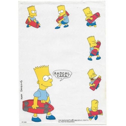 Papel de Carta ANTIGO PC 0609 Os Simpsons
