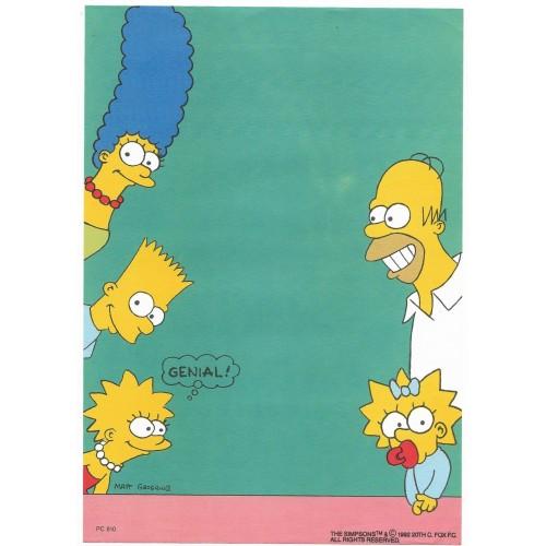 Papel de Carta ANTIGO PC 0610 Os Simpsons