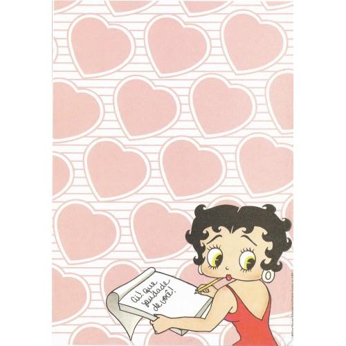 Ano 1986. Papel de Carta Avulso Antigo Betty Boop BBW1