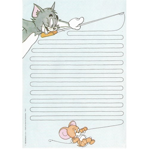 Ano 1986. Papel de Carta Antigo Tom & Jerry TJW1 CAZ