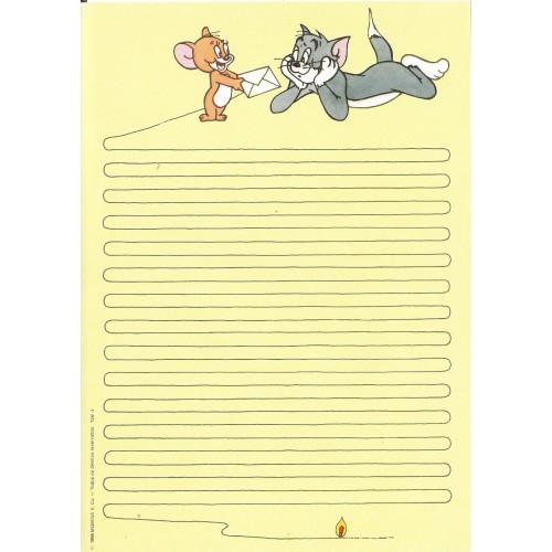 Ano 1986. Papel de Carta Antigo Tom & Jerry TJW3