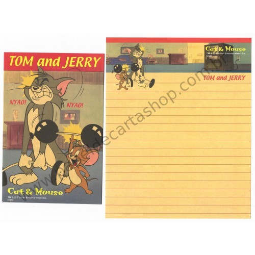 Conjunto de Papel de Carta IMPORTADO Tom & Jerry (s04) 1