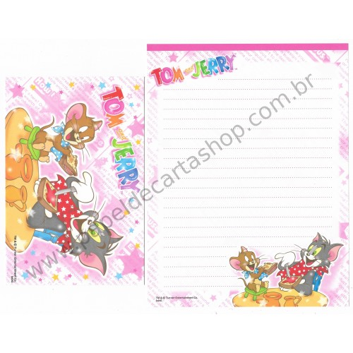 Conjunto de Papel de Carta IMPORTADO Tom & Jerry (s04) 5