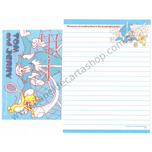 Conjunto de Papel de Carta IMPORTADO Tom & Jerry (s04) 10