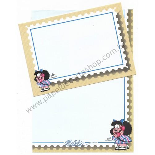 Conjunto de Papel de Carta IMPORTADO Mafalda CAZ