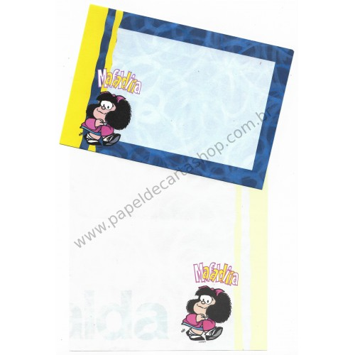 Conjunto de Papel de Carta IMPORTADO Mafalda CAM