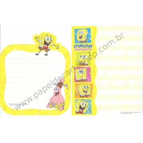 Ano 2006. Conjunto de Papel de Carta Importado Sponge Bob
