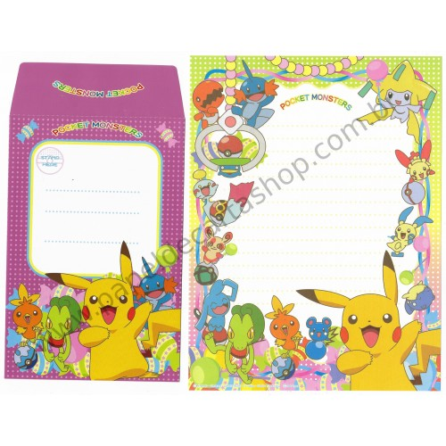 Conjunto de Papel de Carta Pocket Monsters Pokémon Nintendo