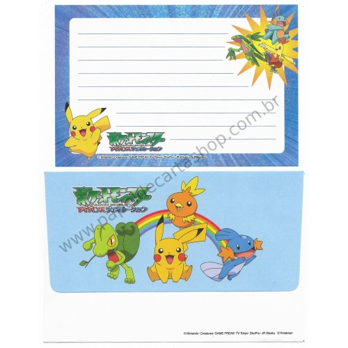 Conjunto de Papel de Carta Pequeno Pocket Monsters Pokémon Nintendo