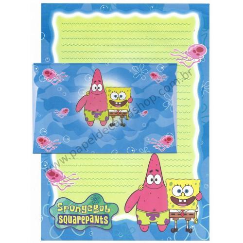 Conjunto de Papel de Carta Importado Sponge Bob Squarepants CAZ