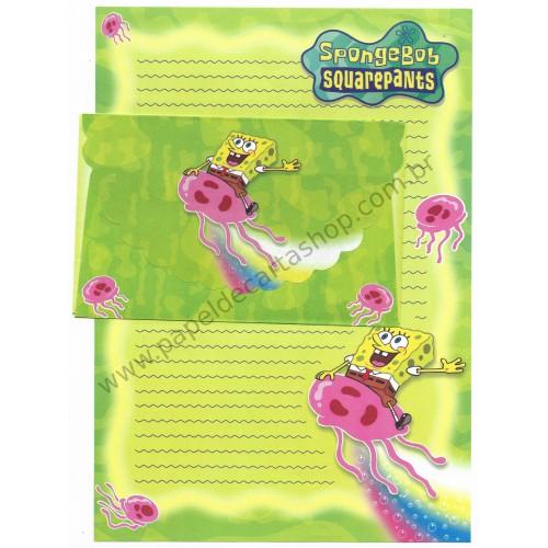 Conjunto de Papel de Carta Importado Sponge Bob Squarepants CVD