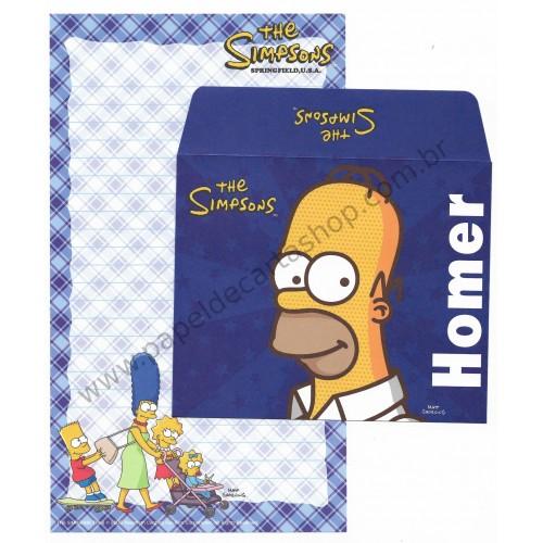 Ano 2006. Conjunto de Papel de Carta Importado Os Simpsons Homer