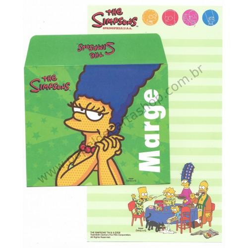 Ano 2006. Conjunto de Papel de Carta Importado Os Simpsons Marge