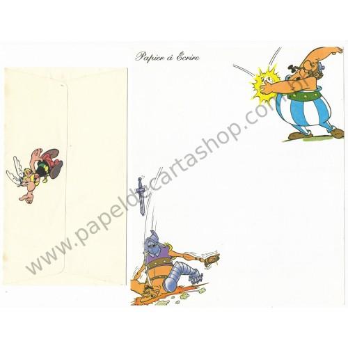 Conjunto de Papel de Carta ANTIGO Asterix & Obelix Papier