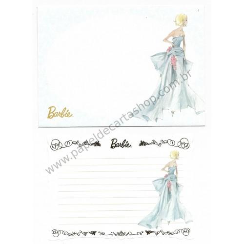 Conjunto de Papel de Carta Pequeno Importado Barbie CAZ