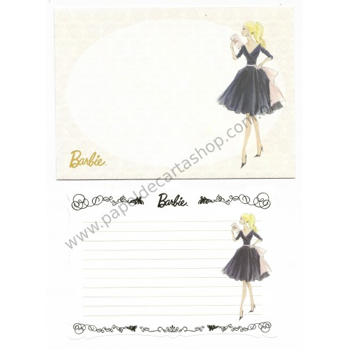 Conjunto de Papel de Carta Pequeno Importado Barbie CSA