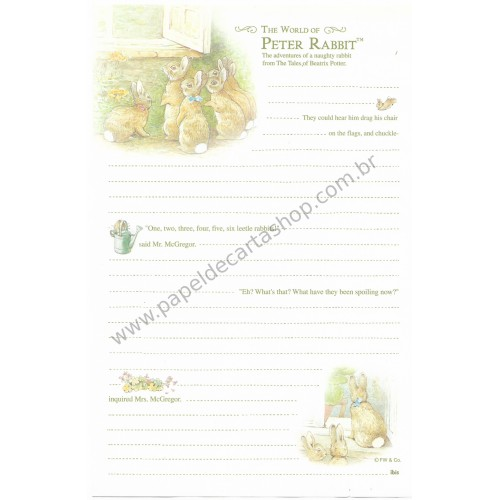 Papel de Carta Importado Peter Rabbit Ibis 2