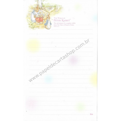 Papel de Carta Importado Peter Rabbit Ibis 3
