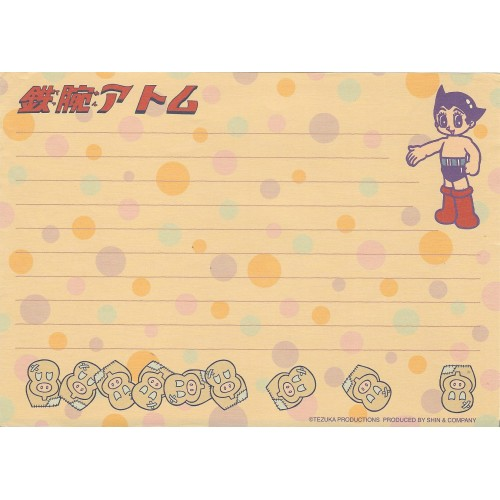 Papel de Carta Importado ASTRO BOY - TEZUKA Japan SHIN1