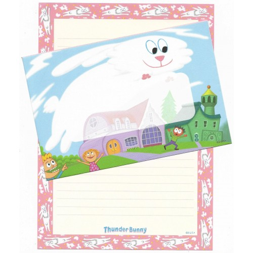 Conjunto de Papel de Carta Importado Thunder Bunny