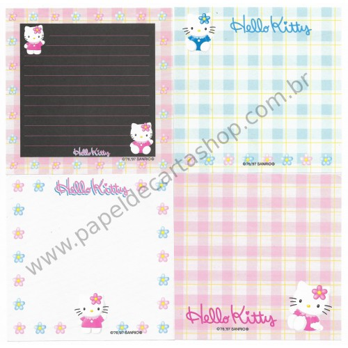 Ano 1997. Kit 4 Notas Hello Kitty Vintage Sanrio