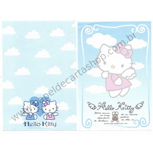 Ano 2004. Kit 2 Notas Grandes Hello Kitty Angel Sanrio