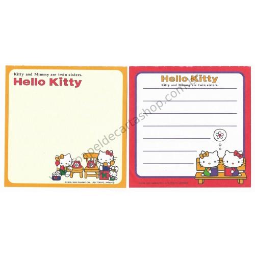 Ano 2000. Kit 2 Notas Hello Kitty & Mimi Vintage Sanrio