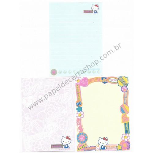 Ano 2003. Kit 3 Notas Hello Kitty Love Sanrio